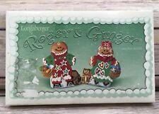 2000 Longaberger Roger & Ginger Christmas Cookie Molds