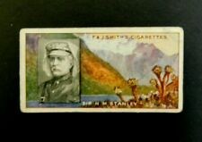 Cigarette Card F.& J.Smith's Famous Explorers 1911 - Sir H M Stanley #31