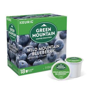 Green Mountain Wild Mountain Blueberry 18 to 144 Keurig K cups Pick Any Quantity