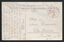 PALESTINE AUSTRIA 1916 WAR TIME FIELD POST 452 W/CENSOR MARKING ON POST CARD