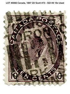 0066: Canada, 1897 QV Scott #73 - SG149 10c Used