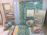 Anna Griffin 12x12 Fun And Fabulous Instant Scrapbook Kit QVC Stickers Paper Etc
