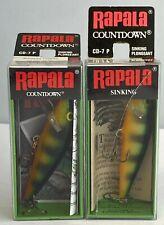 Combo: 2 pk.-Vintage Rapala Countdown Cd-7 P, Perch