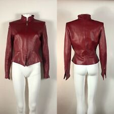 Rare Vtg Thierry Mugler Couture Leather Jacket S