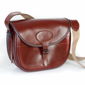 Luxurious Genuine Real Leather Cartridge Bag100-125 Shell Capacity NO AMMUNITION