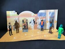Reduced Vintage Star Wars 1978 Cantina Backdrop Complete Han Chewbacca Greedo