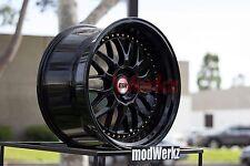 19x9.5 19x10.5 +22 Inch ESR Sr01 5x114.3 Gloss Black Wheels Rims G35 G37 350z GS