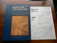 Historical Atlas of the United States Centennial Edition 1988 with plastic overl