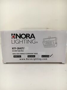 Nora NTF-2642T 26-42w triple biax track light fixture (NO Bulbs) New silver