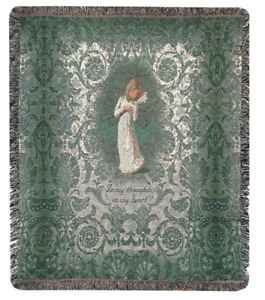 SUSAN LORDI Willow Tree Thanking Of You Nativity Tapestry Afghan Throw 50x60