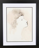 Peter Collins ARCA - 20th Century Pen and Ink Drawing, Profile Study