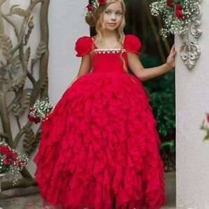 Dollcake Heart On My Sleeve Frothy Dress Frock Red Special Party Holiday sz 9