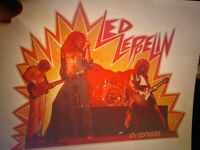 LED ZEPPELIN IN CONCERT 1970's VINTAGE CLASSIC IRON ON TRANSFER NICE, B-7