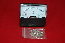 DC 15A Analog Ammeter Panel AMP Current Meter  DC 0-15A 60*70MM directly Connect