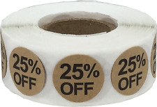 Kraft % Percent Off Stickers | 3/4 Inch Round - 500 Pack | Pick A Percent