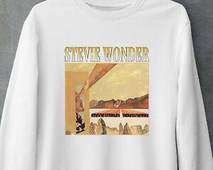 Stevie Wonder Classic Soul Music Vintage Gildan White Sweatshirt MNH041621080
