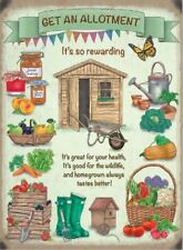 New 15x20cm Get an Allotment metal advertising wall sign