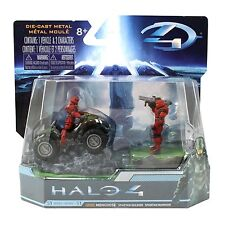 "New HALO 4 Combat Edition 2.8"" UNSC Mongoose with Red Spartan Soldier & Warrior."