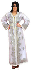 Moroccan kaftan Caftan Takchita Handmade Wedding Gown BrideDress Free Belt White