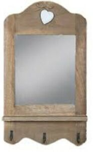 Sass & Belle Scalloped Mirror with 3 hooks & Heart - BNWT
