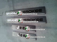 JEEP GRAND CHEROKEE 05-10 DOOR SILL TRIM COVERS PROTECTORS SET BRUSHED STAINLESS