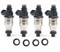 4 Pcs 60LB 650cc Fuel Injectors for Honda B16 B18 B20 D16 D18 F22 H22 H22A VTEC
