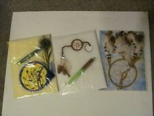Lot of 3 Dreamcatchers with Feathers New St Josephs School