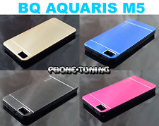 Funda hibrida para BQ AQUARIS M5 carcasa gel TPU protector ALUMINIO
