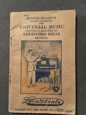 ANTIQUE CATALOG - LYON & HEALY - PLAYER PIANIST'S HANDY REFERENCE FOR MUSIC
