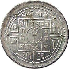 NEPAL 1949 50-Paisa SILVER Coin King TRIBHUVAN【Cat № KM# 721】AU
