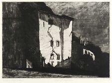 KLAUS DRECHSLER - GESPRENGTES LAGERHAUS - Radierung 1984
