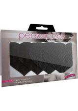 Black Pasties Peekaboos Heart Adhesive Breast Nipple Cover Sticker Bra Pad