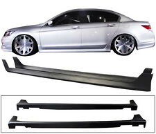 FIT FOR 2008-2012 HONDA ACCORD 4DOOR OE STYLE SIDE SKIRTS POLYPROPYLENE PP