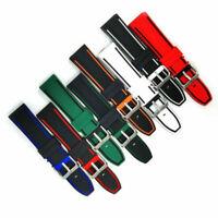 Watch Accessory 22MM Rubber Wrist Bracelet Waterproof Band Replacement Strap