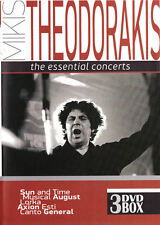 MIKIS THEODORAKIS - The Essential CONCIERTOS ORIGINAL 3dvd Nuevo Caja Set / PAL