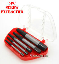 5PC SCREW EXTRACTOR SET REMOVES BROKEN SCREWS BOLTS NEW