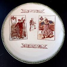 * ASSIETTE PLATE PORCELAINE 20 cm Ø LE VILAIN VALET DE CARREAU COUPE LES COEURS