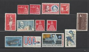 US,C64-C76,COMPLETE DECADE,MNH,VF,1960'S AIRMAIL COLLECTION MINT NH,OG