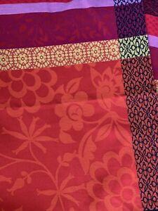 "Le Jacquard Francais Table Runner, Modern Floral, Multi Red/orange, 56"" x 21"""