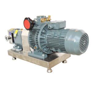 220V Transfer Pump Food Grade Rotary Lobe Pump for Foodstuff and Cosmetics 0.5kw
