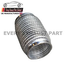 "3"" x 6"" Stainless Exhaust Flex Tube Joint Flexi Repair Soft 76mm x 150mm"