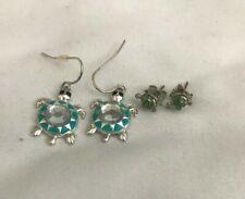 Turtle Earrings 2 pairs