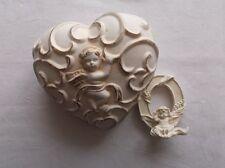 Angelo/Putten decorazione-Angelo personaggio - 2 pezzi - 1x in plastica 1x ceramica/s83