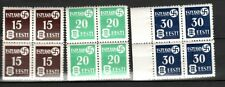 GERMAN OCCUPATIONS - ESTONIA Sc N3-5 NH ISSUE OF 1941 - BLOCK OF 4