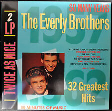 """EVERLY BROTHERS """"32 Greatest Hits"""" 2 LP Set Happy Days 2603711 Rock NM Import"""