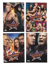 2019 Topps WWE Summerslam POSTER Complete Set (4) BLISS/ ROUSEY/ UNDERTAKER +
