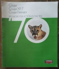 MERCURY COUGAR orig 1970 USA Mkt Large Format Sales Brochure - XR-7 Eliminator