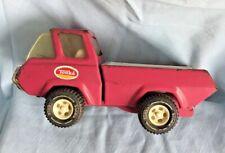 Vintage 1970's Pressed Steel Pink Tonka Pick-up Truck