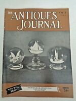 Antiques Journal 1951 Glass Clichy Paperweights Wedgwood Cameos Fenimore House
