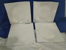 MAXWELL WILLIAMS~White Basics Motion~Dinner Plates~Set of 4~Very Modern!